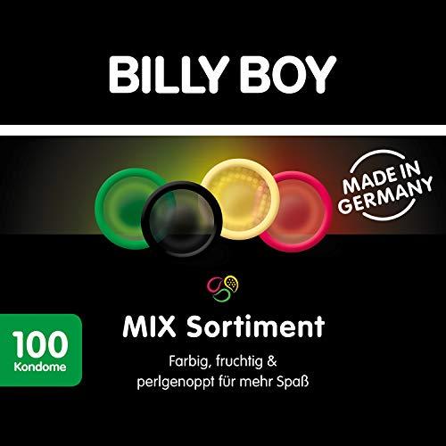 Billy Boy Kondome Mix-Sortiment Aus Bunten, Perlgenoppten, Aromatisierten Und Extra...