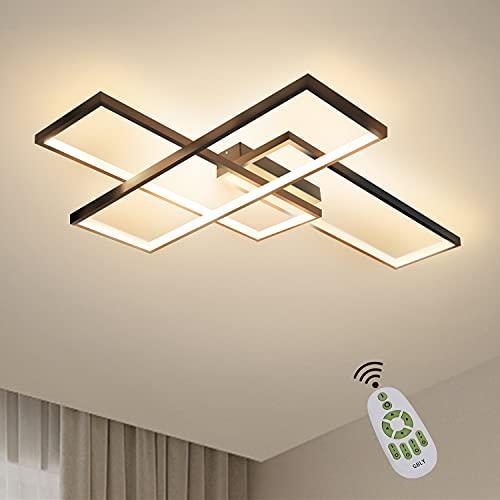 GBLY LED Deckenleuchte Dimmbar Modern Deckenlampe Schwarz Wohnzimmerlampe 65W Geometrisch...