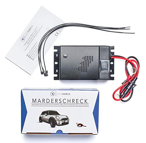 VON HAMELN® Marderschreck Auto - 1 STÜCK - Effektive Marderabwehr Auto mit Ultraschall -...