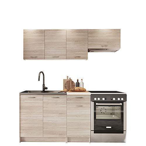 Küche Mela 180/120 cm, Küchenblock/Küchenzeile, 5 Schrank-Module frei kombinierbar...
