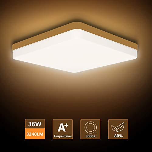 Ouyulong LED Deckenleuchte 36W 3000K 3240LM, Für Wohnzimmer,Schlafzimmer,Balkon -Super...