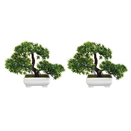 Zunbo Bonsai Pflanze, Kunstpflanze Künstlicher Bonsai-Baum Kiefer Kunststoff für...