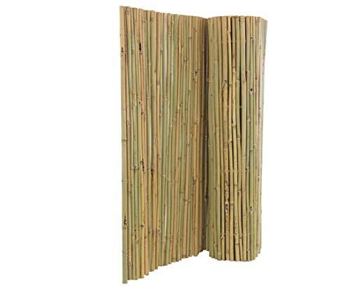 Bambusmatte Bali 120 x 300cm, mit Draht durchbohrt und extrem stabil - Bambus Matte...
