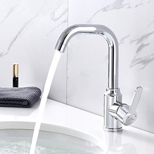 Auralum Waschbeckenarmatur mischbatterie Badarmatur Waschtischarmatur für bad, armatur...