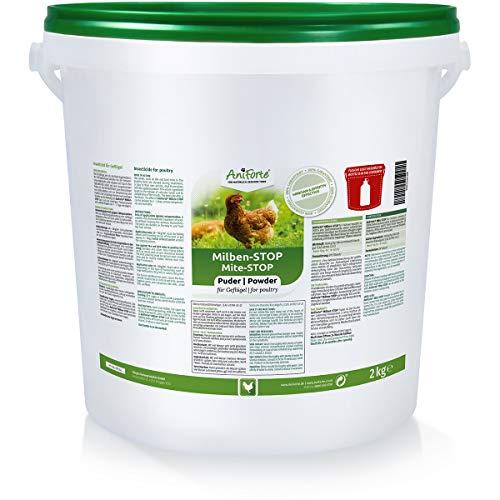 AniForte Milben Stop Puder Kieselgur für Hühner inkl. Puderflasche - Diatomeenerde als...