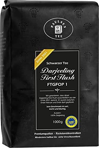 Darjeeling First Flush FTGFOP1 'Ernte 2021', 1000g (39,95 Euro/kg), Paulsen Tee schwarzer...
