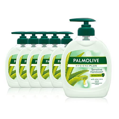 Palmolive Seife Hygiene-Plus Sensitive 6 x 300 ml, antibakteriell, für alle Hauttypen,...