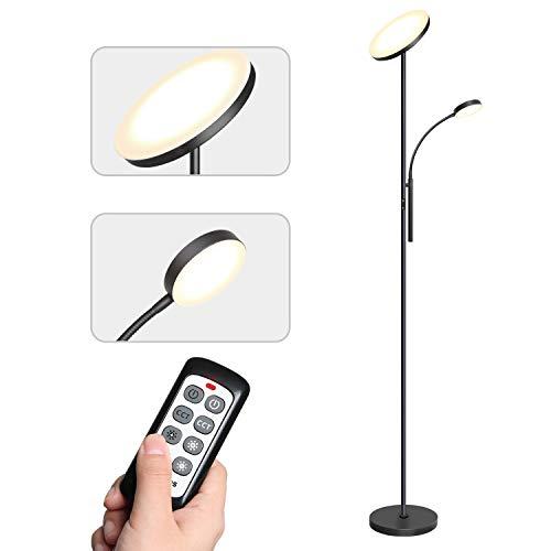 Tomons Stehlampe LED Dimmbar, Stehleuchte Stufenlos Dimmbar, Deckenfluter mit Verstellbare...