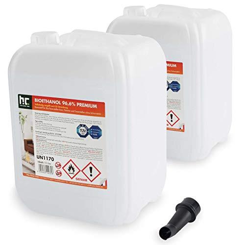 Höfer Chemie 2 x 10 L (20 Liter) Bioethanol 96,6% Premium - TÜV SÜD zertifizierte...