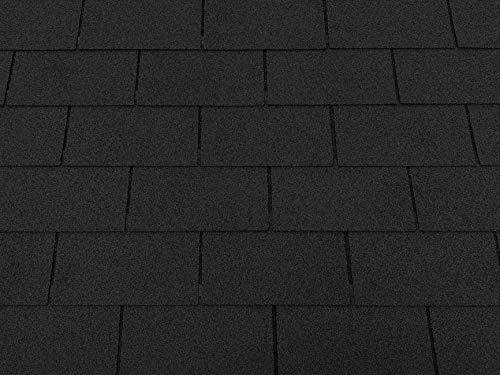 Isolbau Dachschindeln 3m² Rechteck Schwarz (21 Stk) Schindeln Dachpappe Biberschindeln...