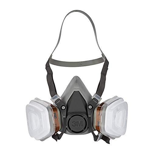 3M Mehrweg-Halbmaske 6002C - Halbmaske mit Wechselfiltern gegen organische Gase, Dämpfe...