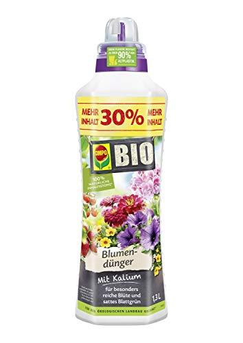 Compo BIO Blumendünger für alle Zimmer-, Balkon- und Terrassenpflanzen, Natürlicher...