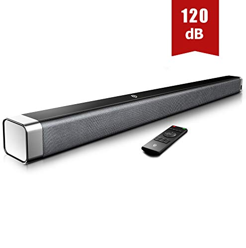 Soundbar 2.0 Kanal,BOMAKER 120 dB 37 Zoll Lautsprecher Bluetooth 5.0 mit Eingebaute...