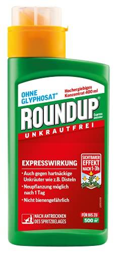 Roundup Express Konzentrat Unkrautvernichter gegen Unkräuter und Gräser, Ohne Glyphosat,...