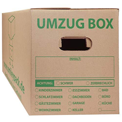 20x Umzugskartons 620 x 300 x 330 mm bis 40 kg 1.40 C-Welle (stabil wie zweiwellige Umzugs...