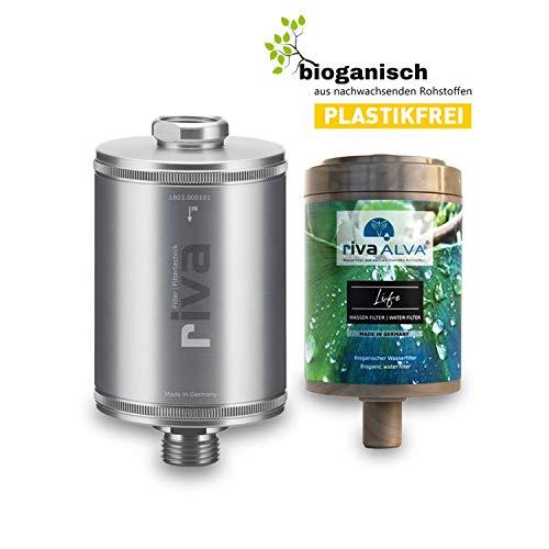 rivaALVA Filter Life Trinkwasserfilter 100% Bio - Wasserfilter Trinkwasser reduziert Kalk,...