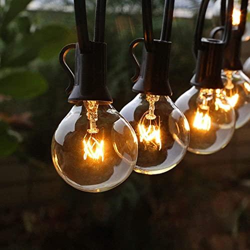 Lichterkette Außen FOCHEA Lichterkette Glühbirnen G40 11m 30er Globe LED Birnen...