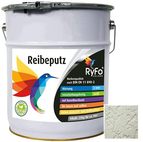 RyFo Colors Reibeputz 2mm 25kg - Fassadenputz, Oberputz, Edelputz, Strukturputz,...