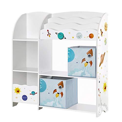 SONGMICS Kinderzimmerregal, Spielzeug-Organizer, Bücherregal für Kinder,...