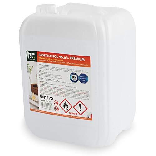 Höfer Chemie 1 x 10 L Bioethanol 96,6% Premium - TÜV SÜD zertifizierte QUALITÄT - für...