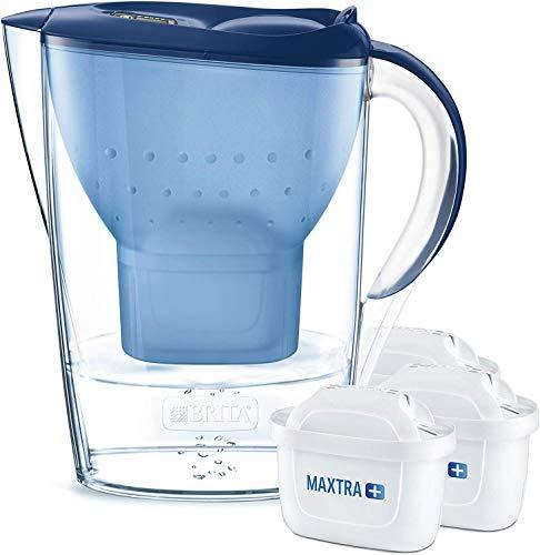 BRITA Wasserfilter Marella blau inkl. 3 MAXTRA+ Filterkartuschen – BRITA Filter...