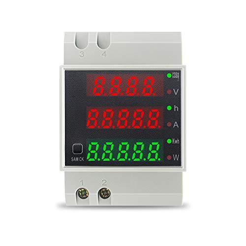 KETOTEK Voltmeter Amperemeter Leistungsmessgerät Digital AC 80-300V 0-100A...