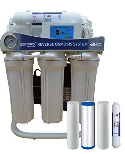 PUR Booster 5 Stufen 600 GPD Direct flow Umkehrosmoseanlage + ERSATZFILTERSET