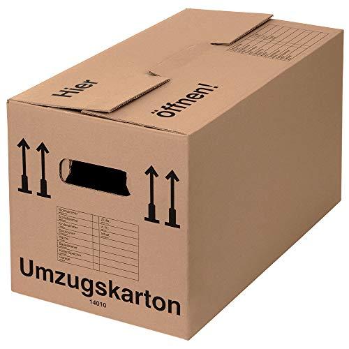BB-Verpackungen 20 x Umzugskarton Profi 600 x 328 x 340 mm (stabil 2-wellig aus recycelter...