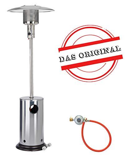 Gas Heizpilz aus Edelstahl von Activa | Heizstrahler für Terrassen - mit Kippschutz und...