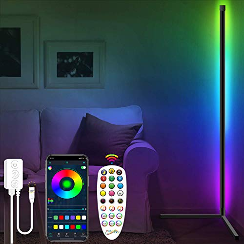 Fortand LED Stehlampe Dimmbar, LED Stehleuchte mit Fernbedienung APP Steuerung Musik Sync...