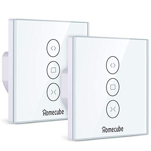 Rolladen Zeitschaltuhr,Homecube Smart Vorhang Schalter,WiFi Rolladenschalter,Smart...