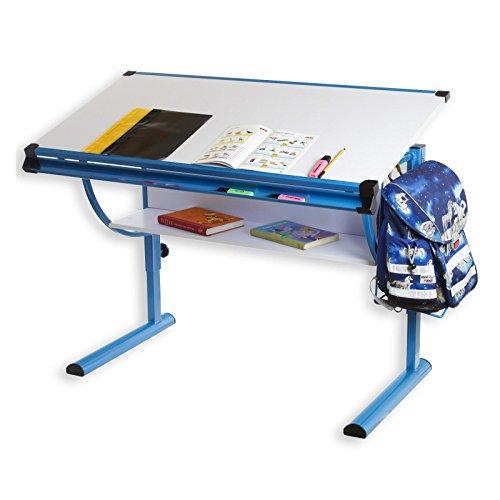 IDIMEX Kinderschreibtisch Schülerschreibtisch Blue in weiß blau Schreibtisch...