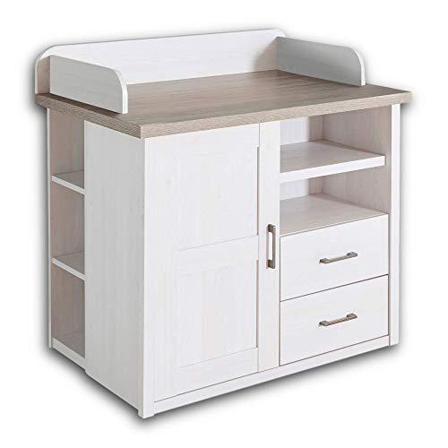 LUCA Elegante Schlafzimmer Kommode im Landhausstil - stilvoll & ausdrucksstark in Pinie...