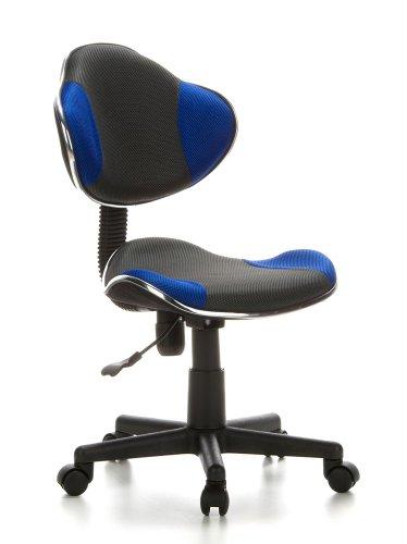 hjh OFFICE 633000 Kinderdrehstuhl Bürostuhl KIDDY GTI-2 grau blau, Kinderdrehstuhl für...