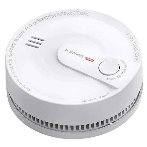 X-Sense Rauchmelder 10 Jahres Batterie, intelligenter Feuermelder, 5 Fach Schutz vor...