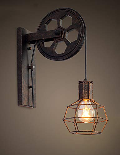 Kreative Retro Industrie-Stil Wandleuchten Loft-Stil Heben Riemenscheibe Lights Aisle...