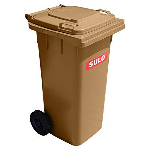 Mülltonne Müllbehälter 120 L braun