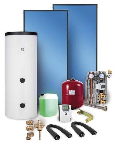Solaranlage Paket Warmwasser Flachkollektoren 5,02m² Solarspeicher 300 l Solar