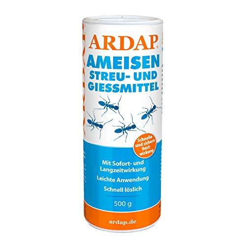 ARDAP Ameisen Streu- & Gießmittel 500g - Insektizid Granulat mit Sofortwirkung für die...