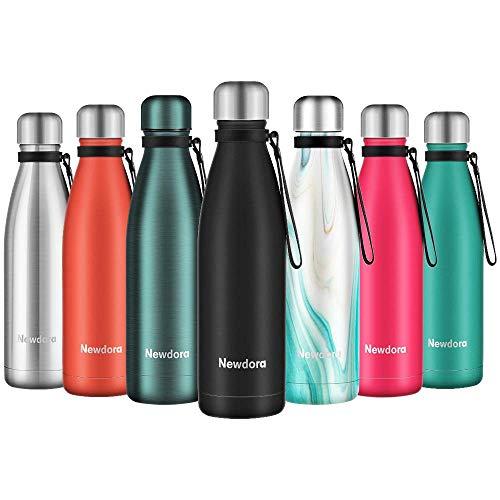 Newdora Trinkflasche Edelstahl Thermosflasche BPA-frei Auslaufsicher Vakuumisolierte...