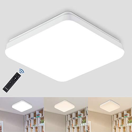 LED Deckenleuchte Dimmbar, 24W 2400LM Lichtfarbe und Helligkeit Einstellbar mit...