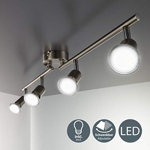 LED Deckenleuchte Schwenkbar Inkl. 4 x 3W Leuchtmittel GU10 IP20 LED Strahler Deckenlampe...