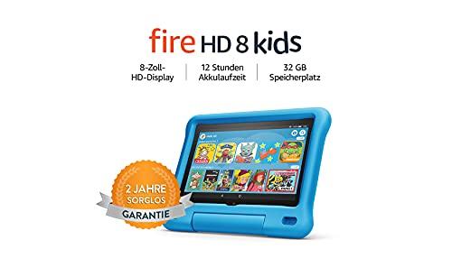 Fire HD 8 Kids-Tablet, 8-Zoll-HD-Display, 32 GB, blaue kindgerechte Hülle