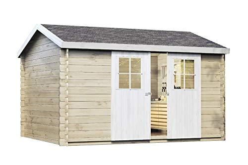 Alpholz Gartenhaus Dinant 28 aus Massiv-Holz | Gerätehaus mit 28 mm Wandstärke | Garten...