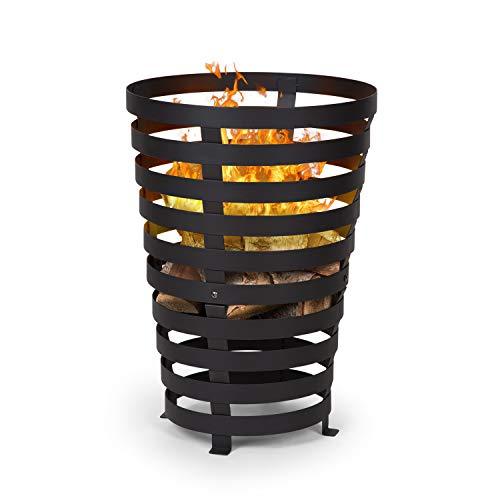 blumfeldt Verus - Feuerkorb aus Stahl, 42 cm Feuerstelle, Stabiler Stand, Vier robuste...