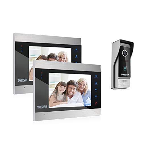 TMEZON Video Türsprechanlage Türklingel Intercom System, Türsprechanlage mit 1080P 7...