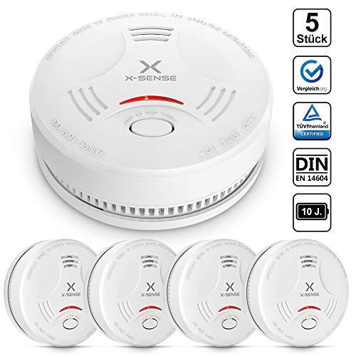 X-Sense Rauchmelder SD11 TÜV und DIN EN 14604 geprüfter Rauchwarnmelder mit 10 Jahren...