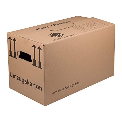 BB-Verpackungen Umzugskarton, 20 Stück, (Profi) 2-WELLIG + doppelter Boden