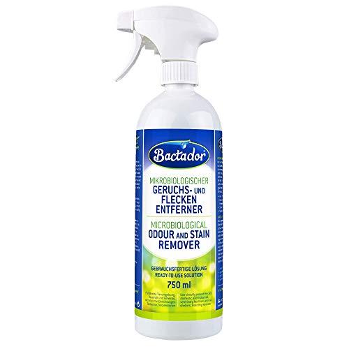 Bactador Geruchsentferner & Fleckenentferner Spray 750ml - Biologischer Enzymreiniger als...