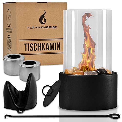 Flammenbrise Tischkamin | Tischfeuer für Indoor und Outdoor | Ethanol Kamin mit [200g]...